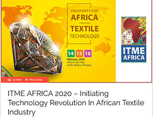 ITME AFRICA 2020 – Initiating Technology Revolution In African Textile Industry